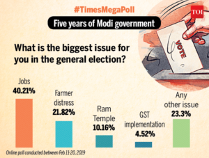 What is the most important issue of the 2019 Lok Sabha elections
