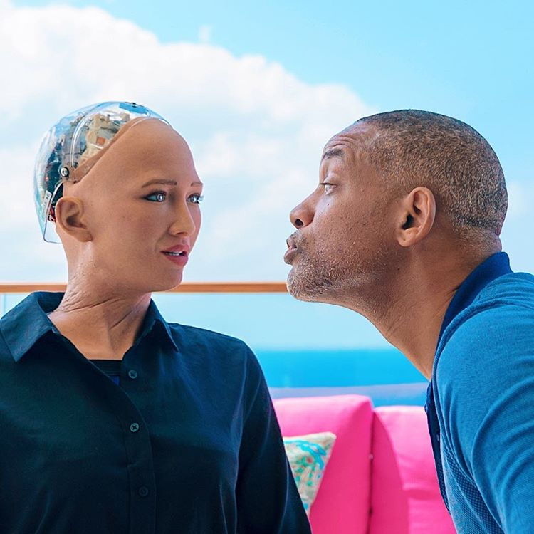 When Will Smith Wants to Kiss Robot Sophia