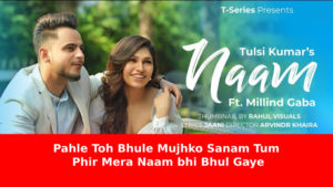 Naam Lyrics by Tulsi Kumar and Millind Gaba