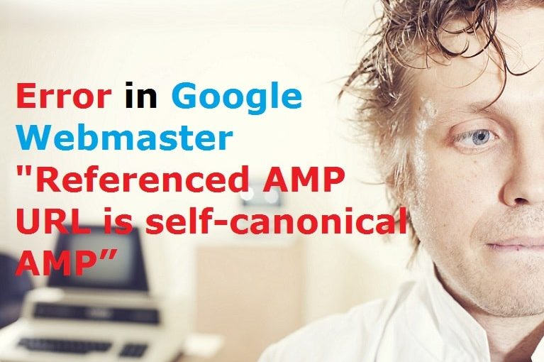 Referenced AMP URL is self-canonical AMP Error in Google Webmaster