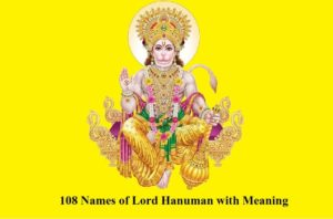 108 Names of Lord Hanuman with Meaning